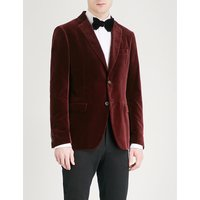 Slim-fit velvet jacket