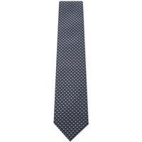Brioni Tonal cube silk tie, Mens, Blue