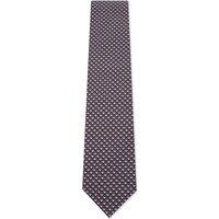 Brioni Tonal cube silk tie, Mens, Pink