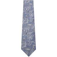 Brioni Paisley silk tie, Mens, Light blue