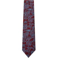 Brioni Paisley silk tie, Mens, Red
