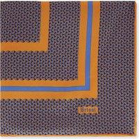 Triangle-print silk pocket square