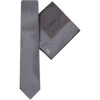 Circle print silk tie & pocket square