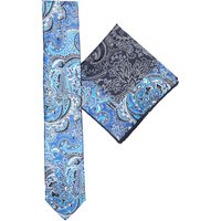 Floral silk pocket square and tie set