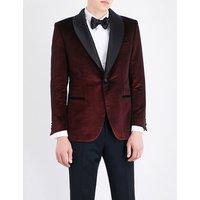 Brioni Regular-fit velvet jacket, Mens, Size: 38, Red