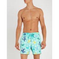 Glow in the dark turtle-print swim shorts
