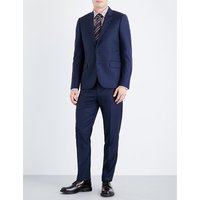 Paul Smith Navy Graphic Print Suit, Size: 36