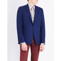 Paul Smith Mens Bright Blue Woven Jacket, Size: 36