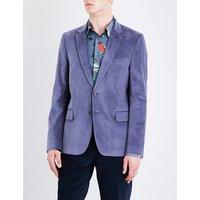 Single-breasted Soho-fit velvet jacket