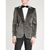 Soho-fit velvet jacket