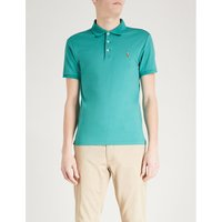 Slim-fit cotton-jersey polo shirt