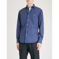 Geometric-print cotton shirt