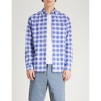 Checked slim-fit cotton Oxford shirt
