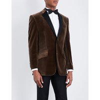 Regular-fit notch-lapel velvet jacket