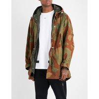 Camouflage cotton parka coat