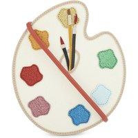 Glitter paint palette cross-body bag