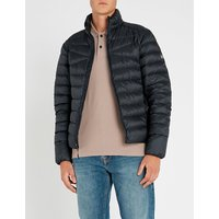 Quilted shell-down jacket
