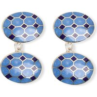 Deakin And Francis Octagon cufflinks, Mens, Blue