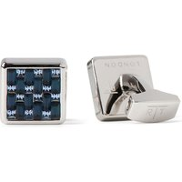 Tateossian Interlock cufflinks, Mens, Blue