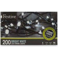200 white LED string lights