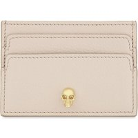 Alexander Mcqueen Blush Nude Pink Skull Leather Card Holder