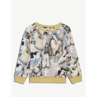 Elsa dog-print stretch-cotton T-shirt 3-24 months