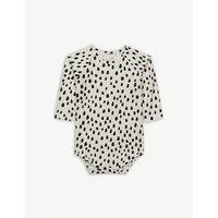 Spot print cotton-blend bodysuit 0-18 months