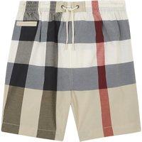 Saxon check cotton-blend swimming shorts 6-36 months