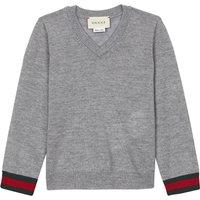 Classic v-neck wool jumper 6-36 months