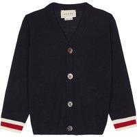 Gucci Web trim wool cardigan 6-36 months, Size: 12-18 months, Navy
