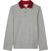 Knitted collar cotton polo shirt 4-12 years