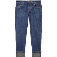Heart pocket cotton denim jeans 4-12 years