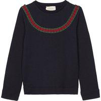 Frilled web stripe cotton sweatshirt 4-12 years