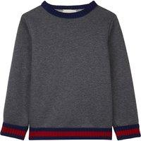 Knitted trim cotton sweatshirt 6-12 years