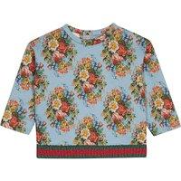 Floral Web stripe cotton neoprene jumper 9-36 months