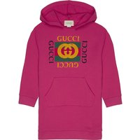 Logo print hooded sweatshirt dress 4-12 years