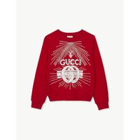 Diamanté logo cotton sweatshirt 4-12 years