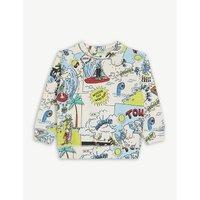 Billie Tourist print jumper 6-36 months