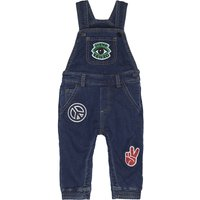 Denim embroidered patch dungarees 6-36 months