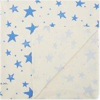Star print cotton blanket