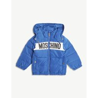 Logo-front hooded padded jacket 6-36 months