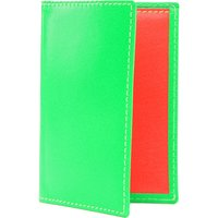 Comme Des Garcons Fluoro leather card holder, Women's, Green