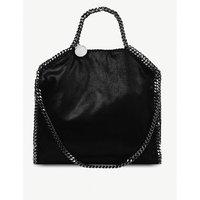 Stella Mccartney Falabella medium faux-suede shoulder bag, Women's, Size: Medium, Black