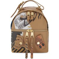 Packaging leather backpack