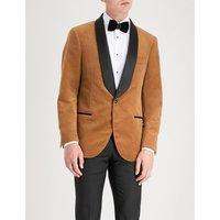 Shawl-lapels cotton-velvet jacket