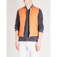 Reversible quilted shell-down gilet