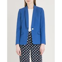 Slim-fit wool-blend blazer