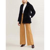 Farrah shearling double-breasted shearling coat