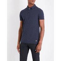 几何-模式 棉 皮克 马球 衬衫
