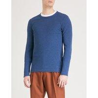 Crewneck 棉-球衣 吨-衬衫